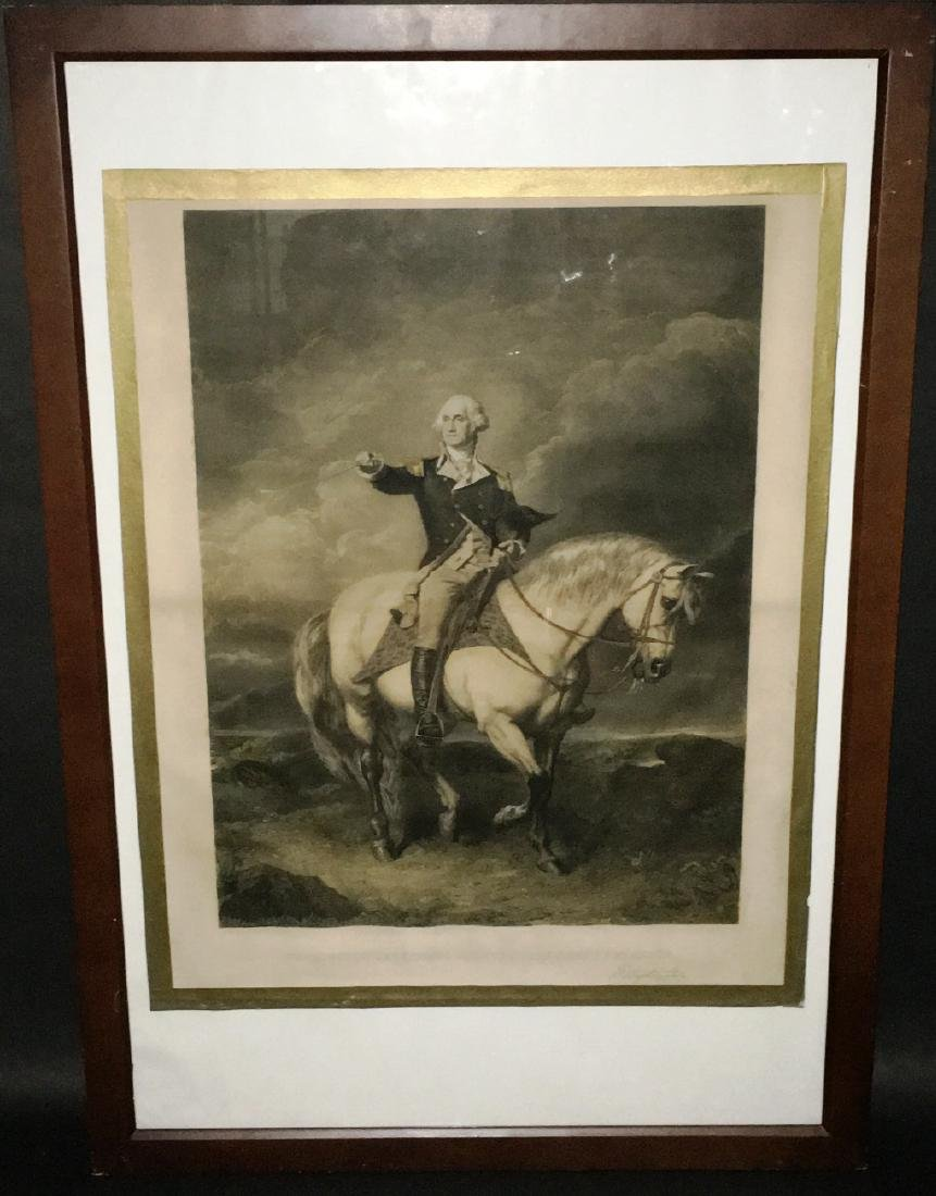 RARE GEORGE WASHINGTON ENGRAVING BY JOHN FAED WM HOLL