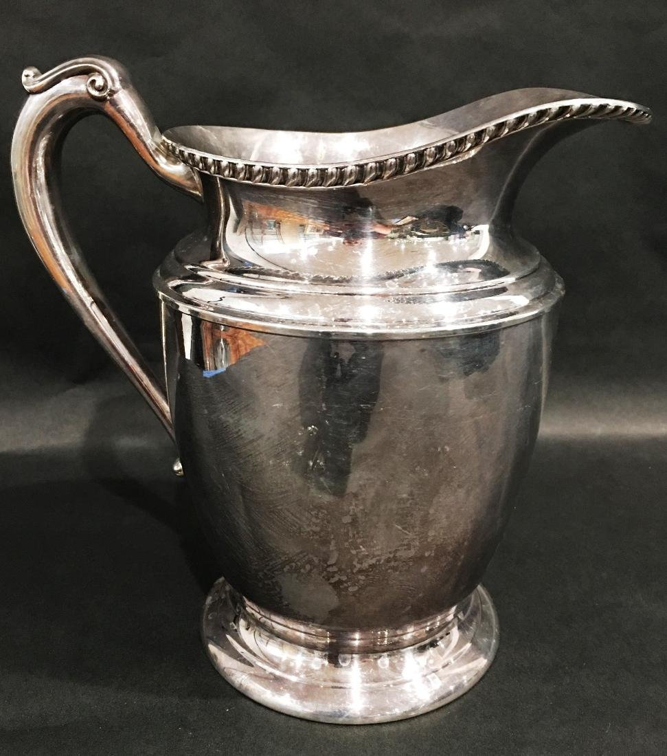 SILVER PITCHER BY CRESCENT SILVERWARE MFG