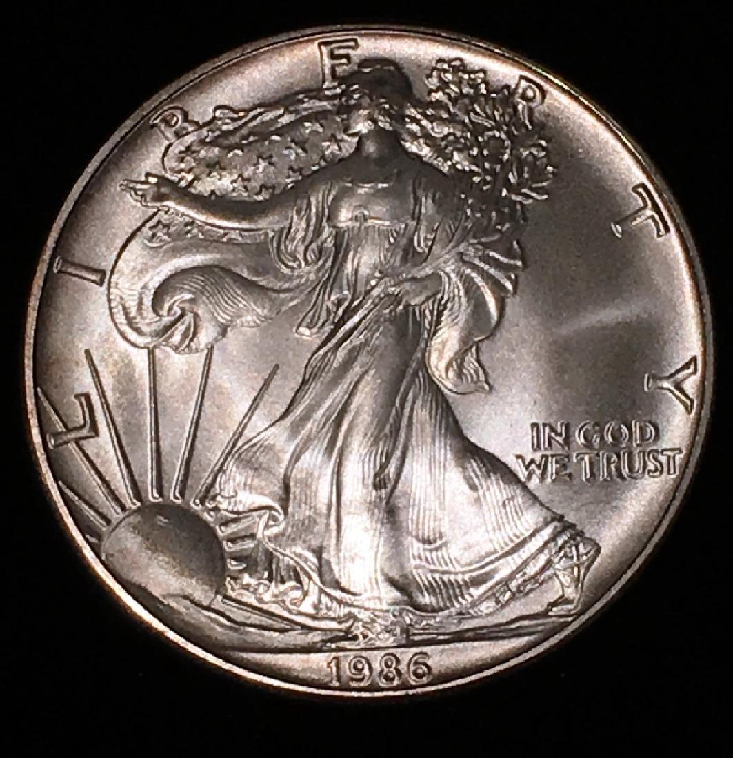 1986 SILVER EAGLE $1