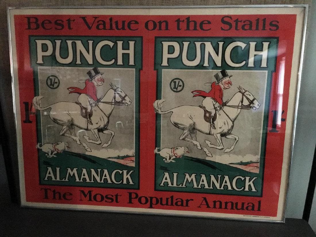 """PUNCH ALMANACK"" POSTER BY BRADBURY AGNEW & CO. L."