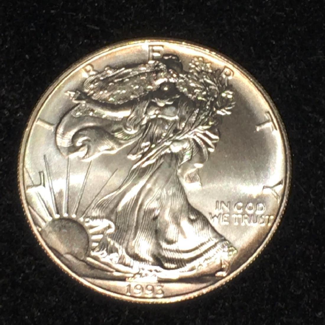 1993 SILVER EAGLE $1