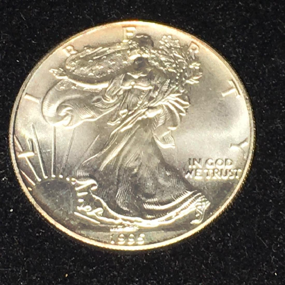 1995 SILVER EAGLE $1