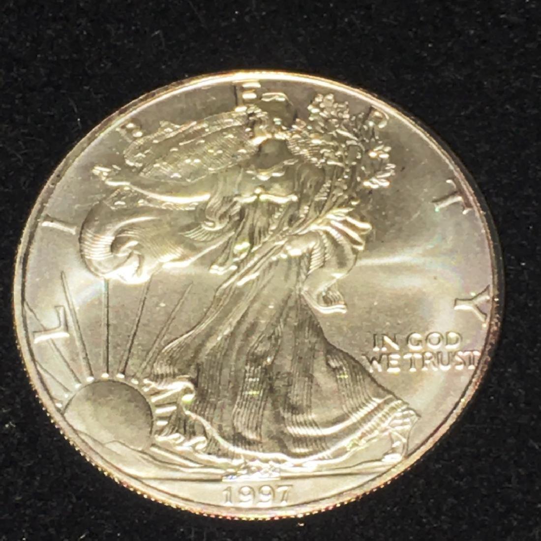 1997 SILVER EAGLE $1