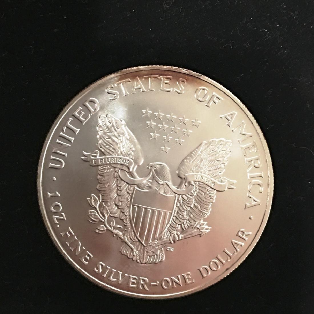 2001 SILVER EAGLE $1 - 2