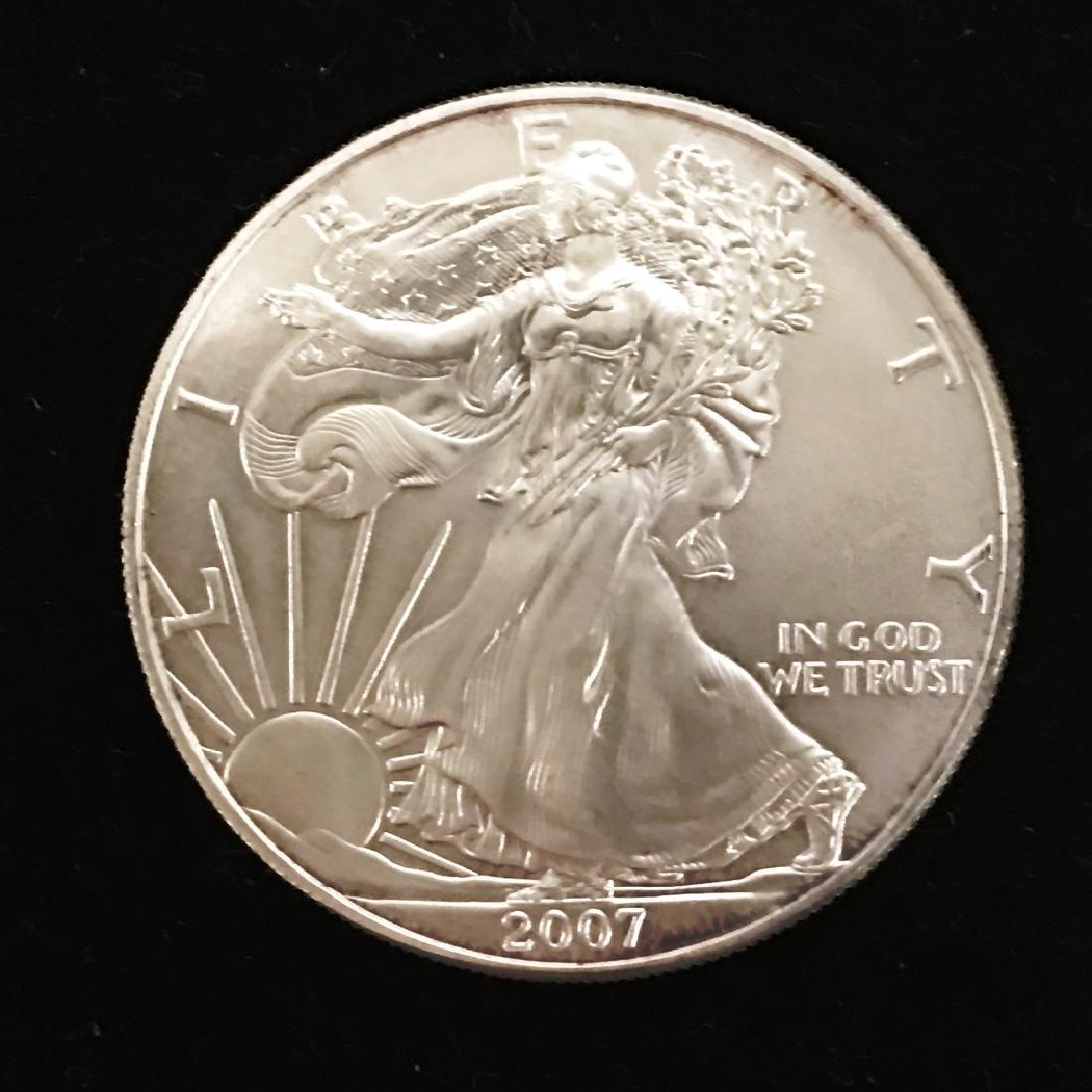 2007 SILVER EAGLE $1