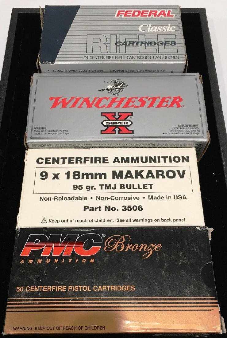 4 ASST BOXES AMMO