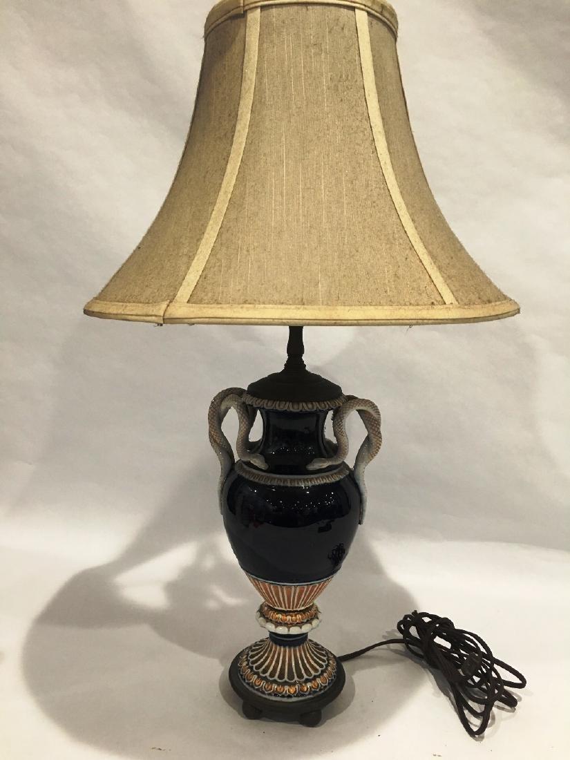 MEISSEN PROCELAIN URN VASE LAMP - 4