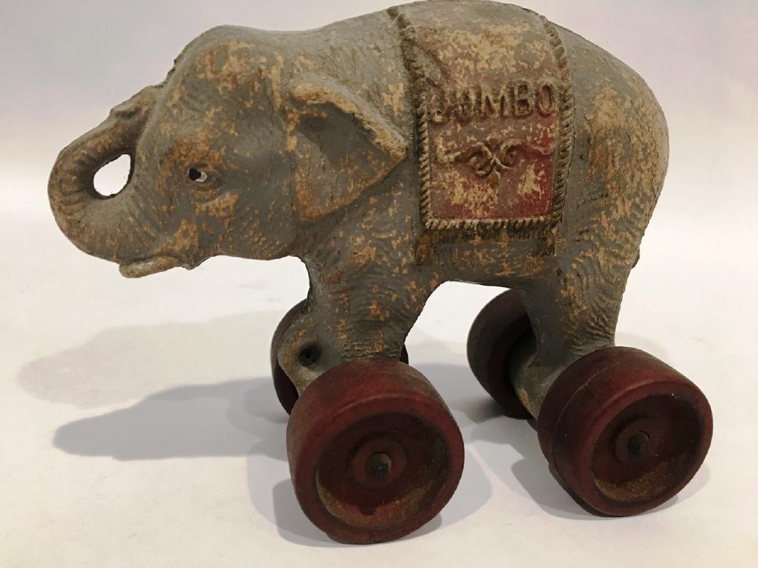 JUMBO THE ELEPHANT TOY ON WHEELS BY HUBLEY
