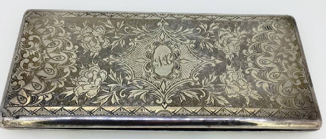 STERLING CIGARETTE CASE, 212g