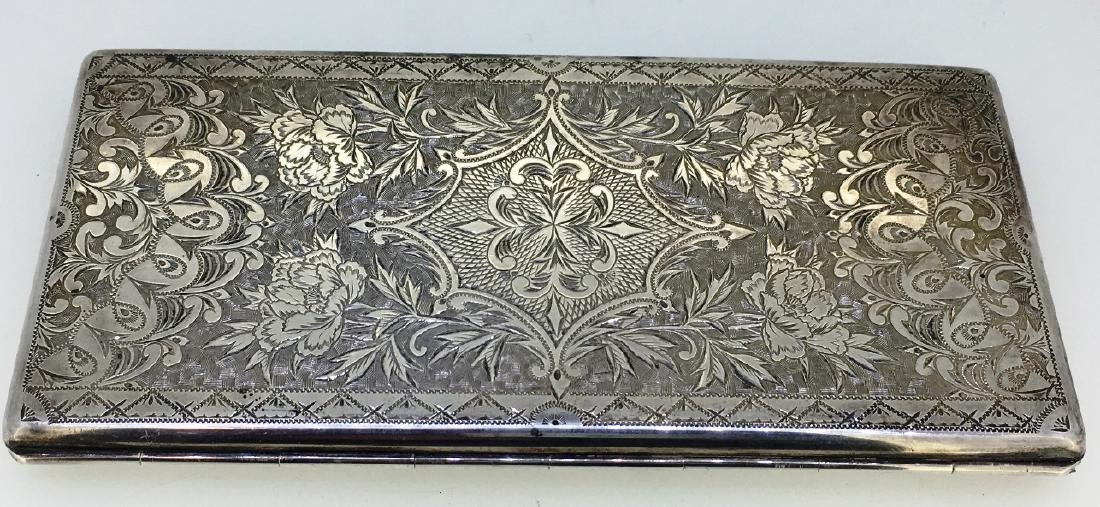 STERLING CIGARETTE CASE, 212g - 2