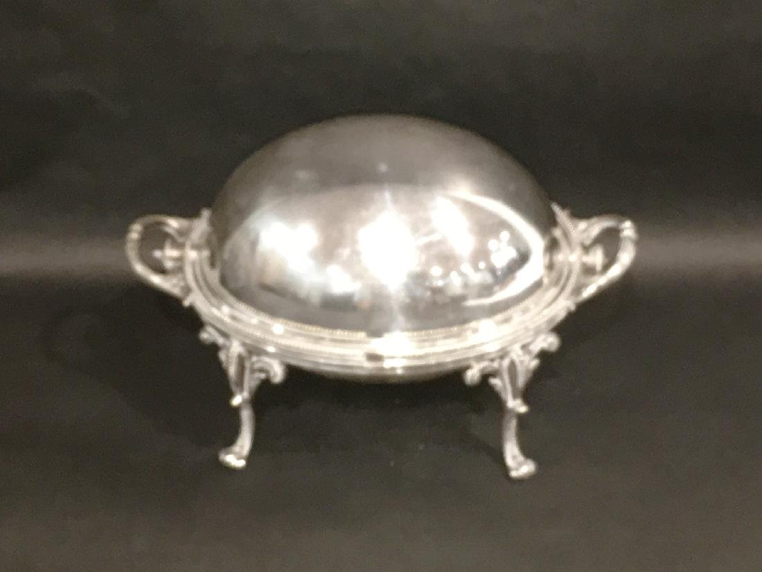 VICTORIAN SILVERPLATE COVERED SERVING DISH