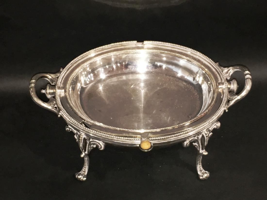 VICTORIAN SILVERPLATE COVERED SERVING DISH - 2
