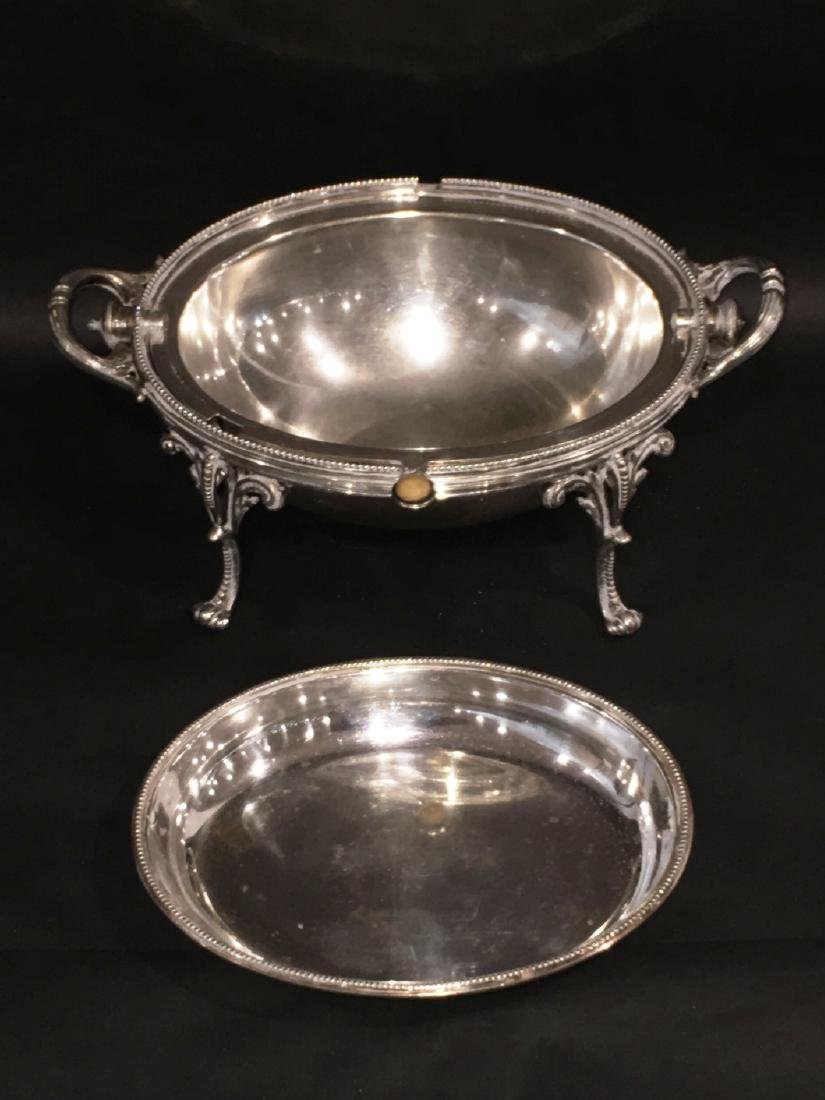 VICTORIAN SILVERPLATE COVERED SERVING DISH - 3