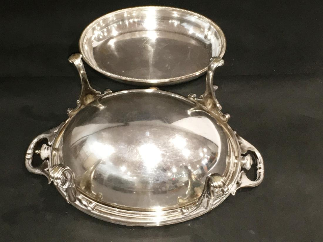 VICTORIAN SILVERPLATE COVERED SERVING DISH - 4