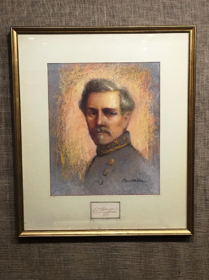 CIVIL WAR PORTRATT GENERAL BEAUREGARD BY CLEVE MILLER