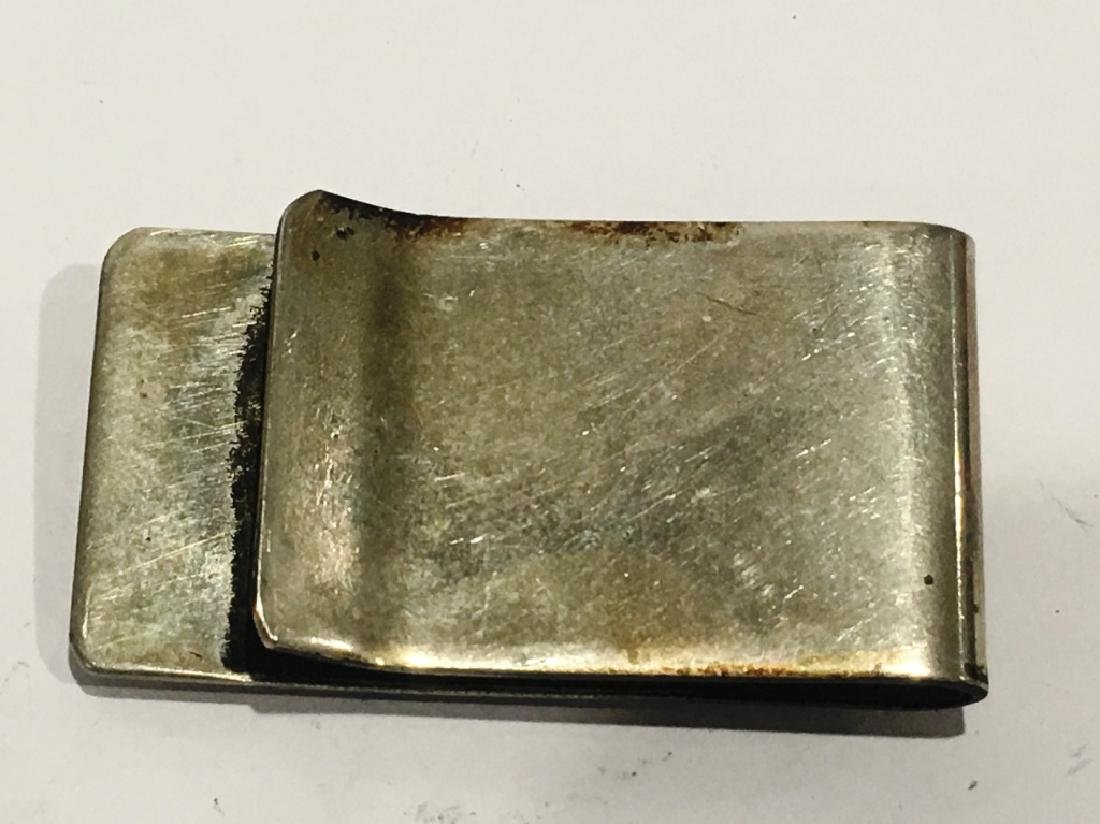 SILVER MONEY CLIP WITH TURQUOISE STONE - 2