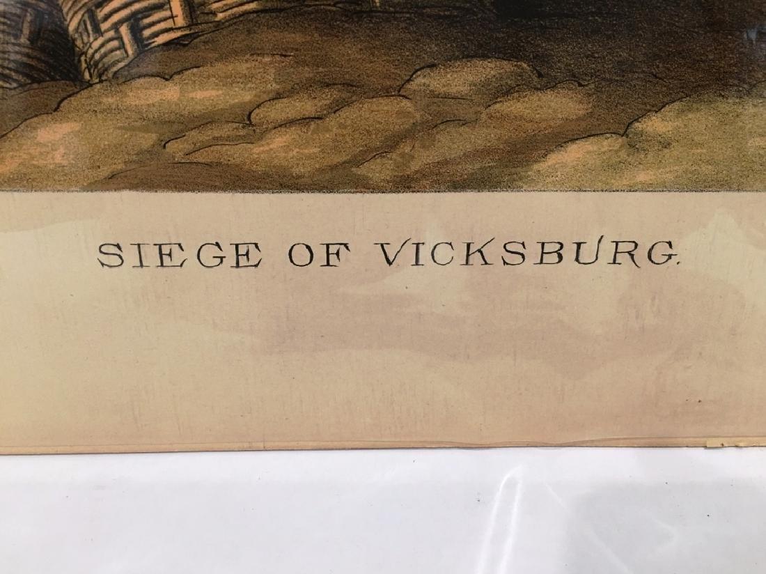 KURZ & ALLISON CHROMOLITHOGRAPH SIEGE OF VICKSBURG - 2
