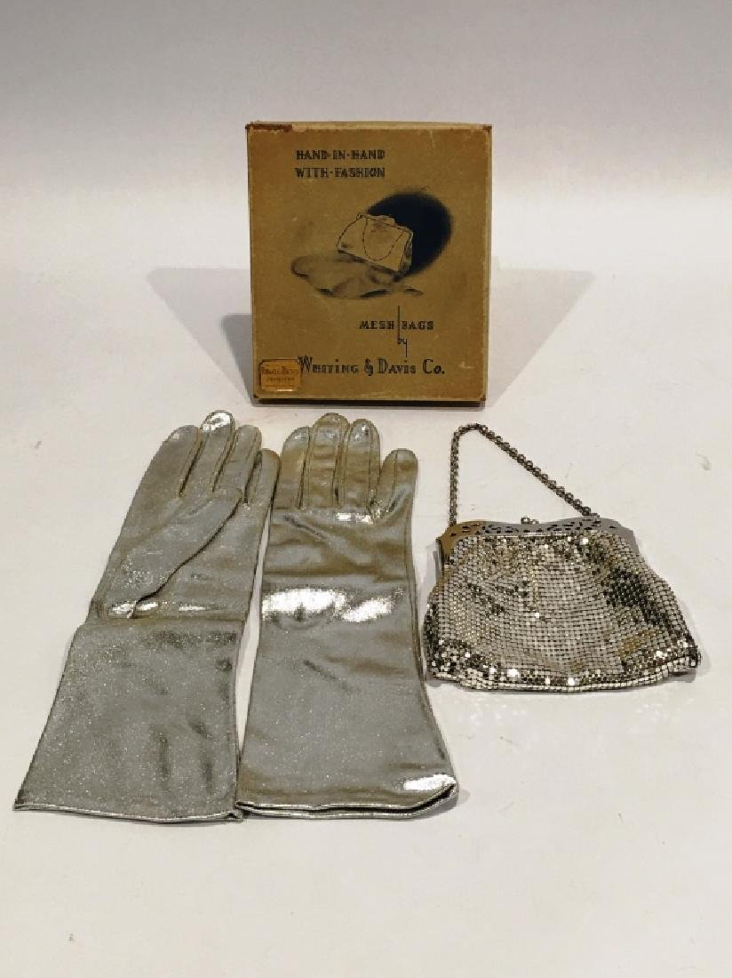 WHITING & DAVIS MESH BAG WITH GLOVES