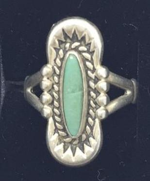 Sterling Ring with Turquoise Stone Native American