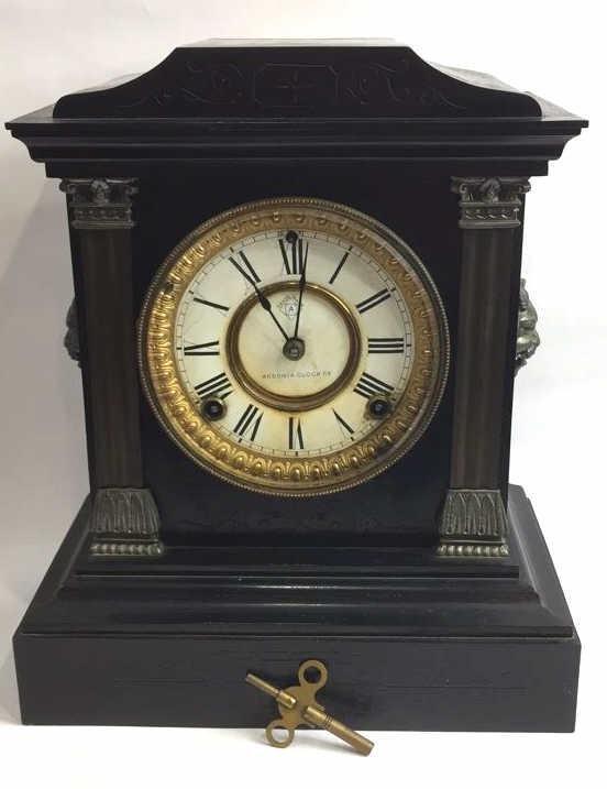 Antique Ansonia Marble Mantle Clock