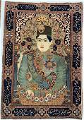 Antique Pictoral Rug of Royalty