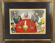 "Alexander Calder Orig Litho ""Six Card Playersâ€"