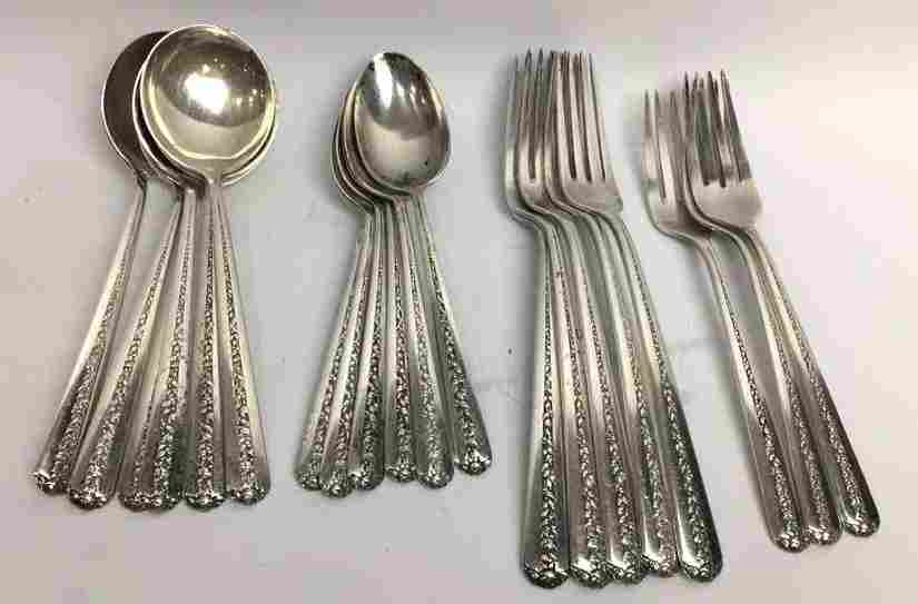 "Towle ""Rambler Rose† Sterling Flatware"