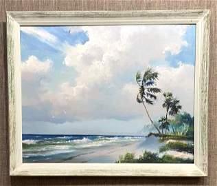 Large Harold Newton (1934-1994) Florida Highwaymen