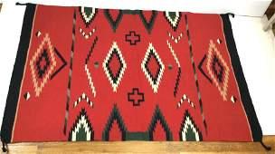 Large Woven Navajo Weaving Blanket