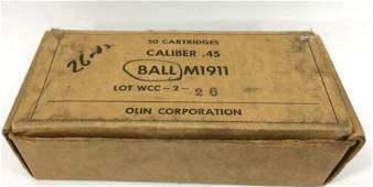 Ball M1911 Cal. .45 Ammunition