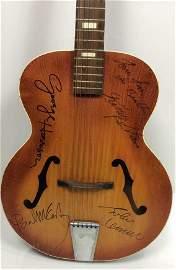 The Beatles Band Signed Guitar w/COA