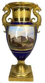 KPM Porcelain Double Handled Figural Vase