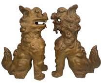 Pair of Oriental Foo Dogs