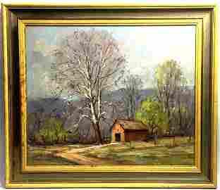 Farmhouse Scene by Frederick Wildermuth Rigley
