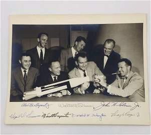 Mercury 7 Signed Photograph
