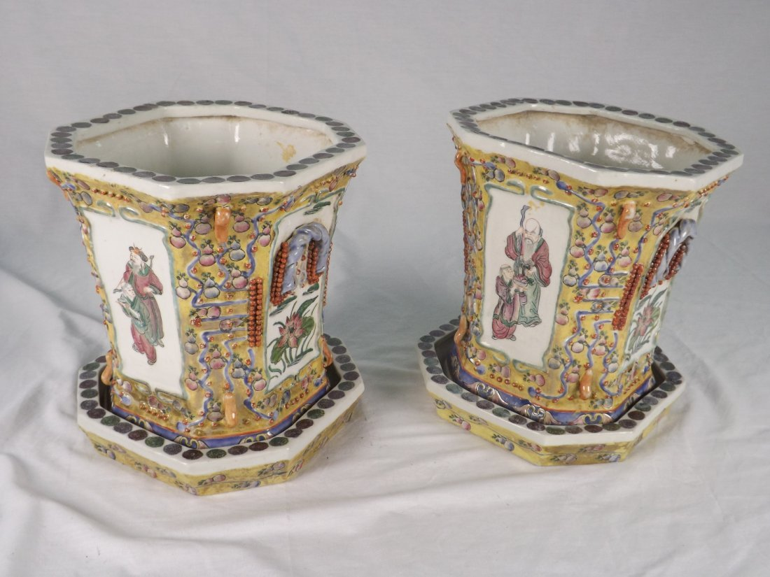 301: Pair of Chinese Bough Pots