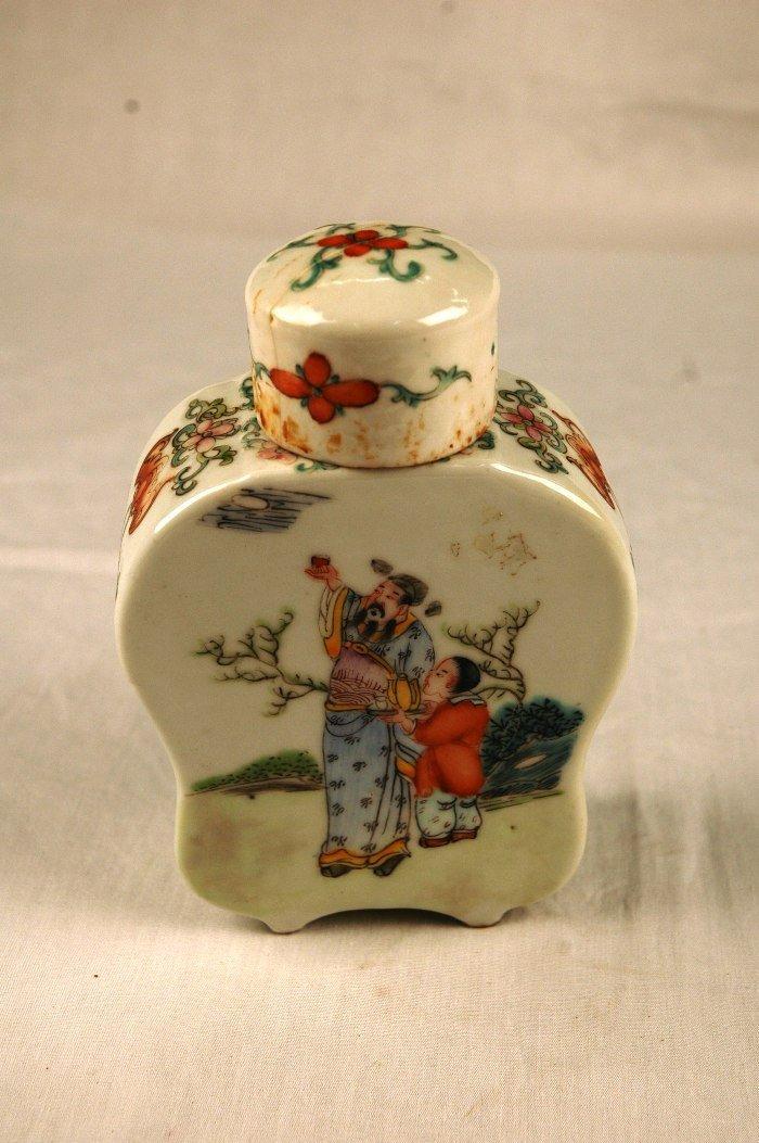 8: Porcelain Tea Caddy