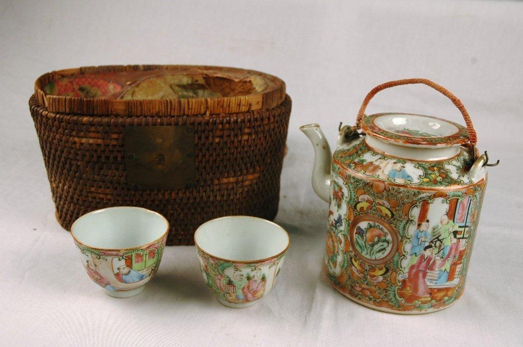 12: Rose Medallion Tea Set