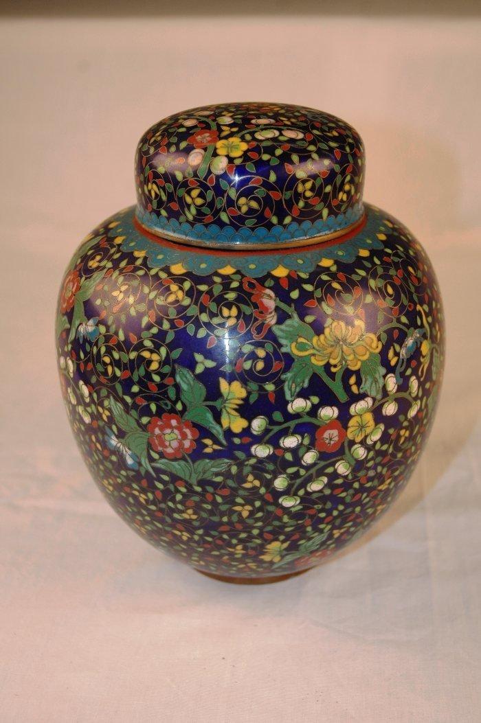 32: Chinese Cloisonne Ginger Jar