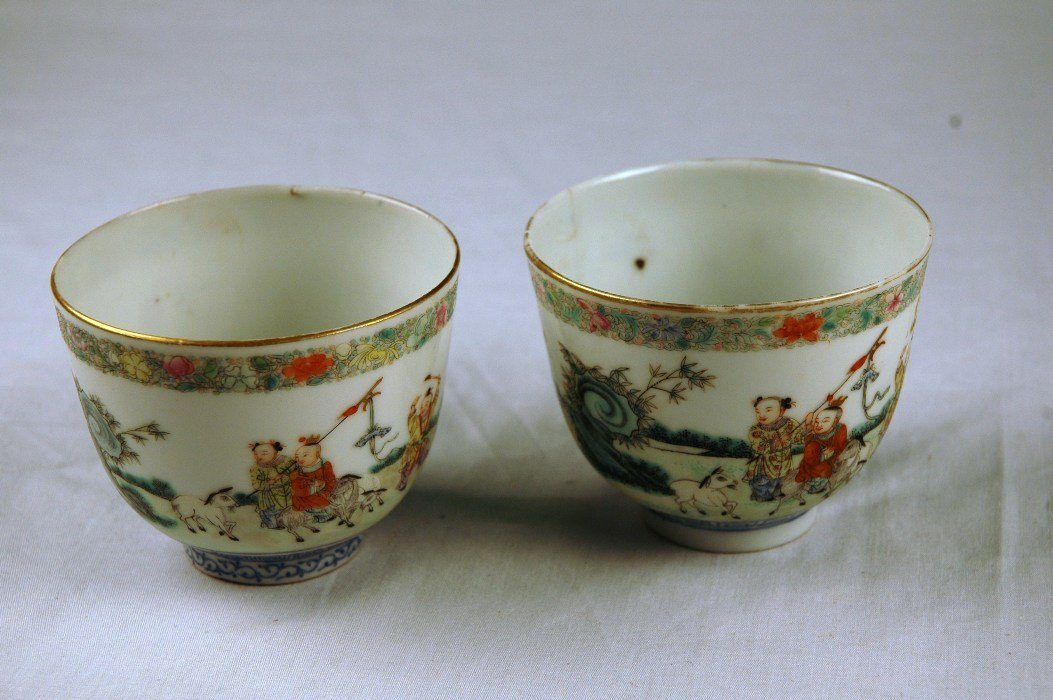 88: Chinese Porcelain Cups, Pair