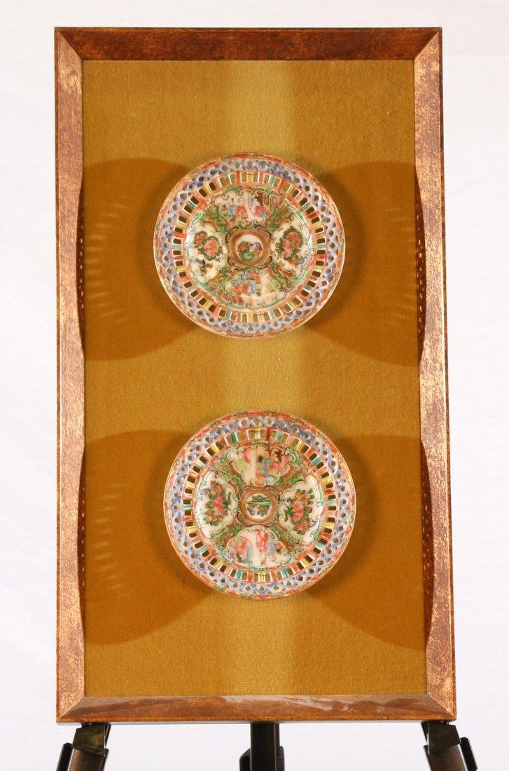 Framed Rose Medallion Plates