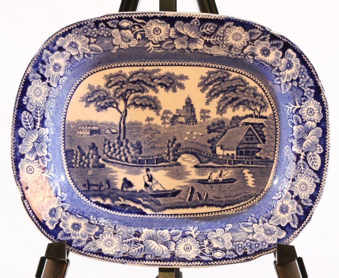 Blue & White Platter