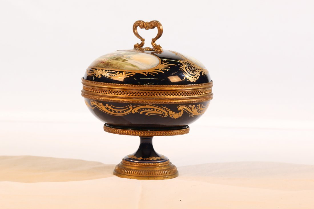 Covered Sevres Compote