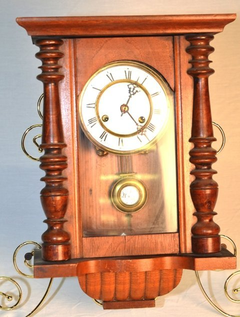 WALL CLOCK WITH ENAMEL FACE