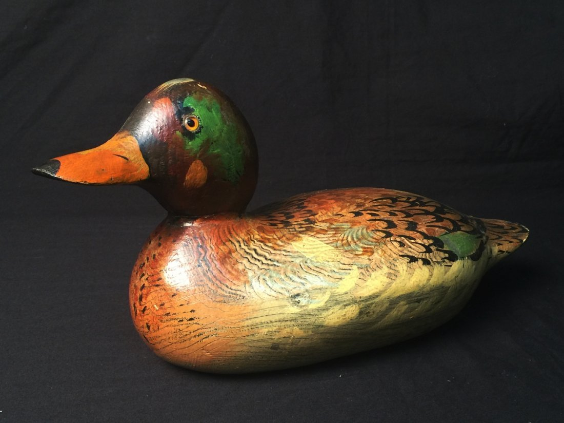 WOODEN DECOY DUCK BY ROBB