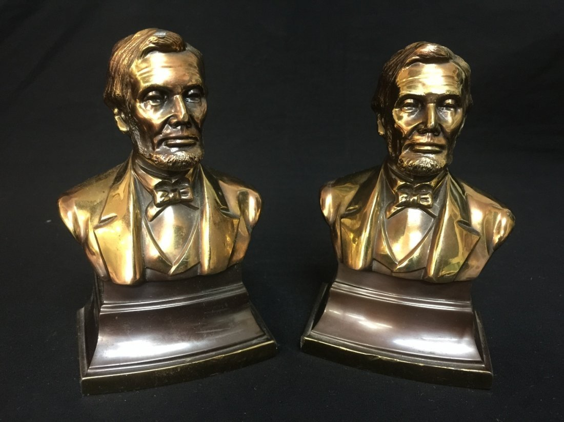 ABE LINCOLN PMC BOOKENDS