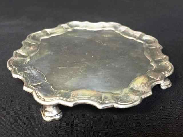 Sterling Footed Tray, 200g