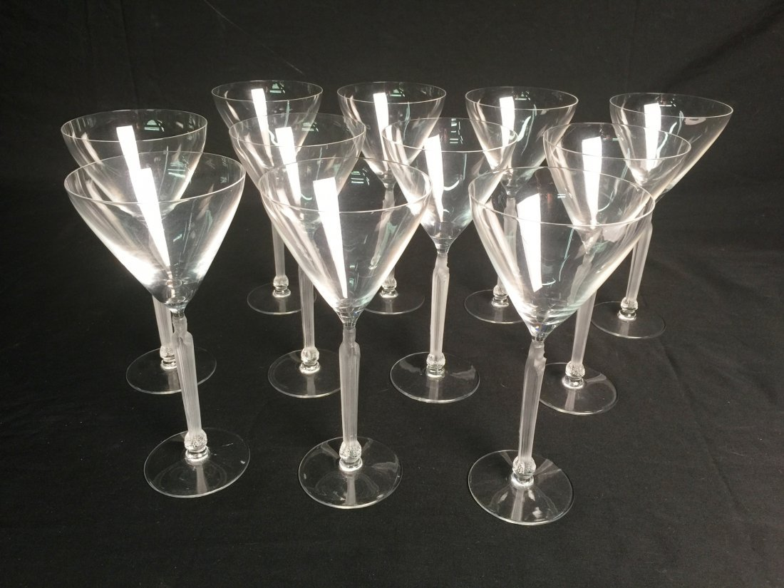 11 Lalique Madonna Wine Glasses