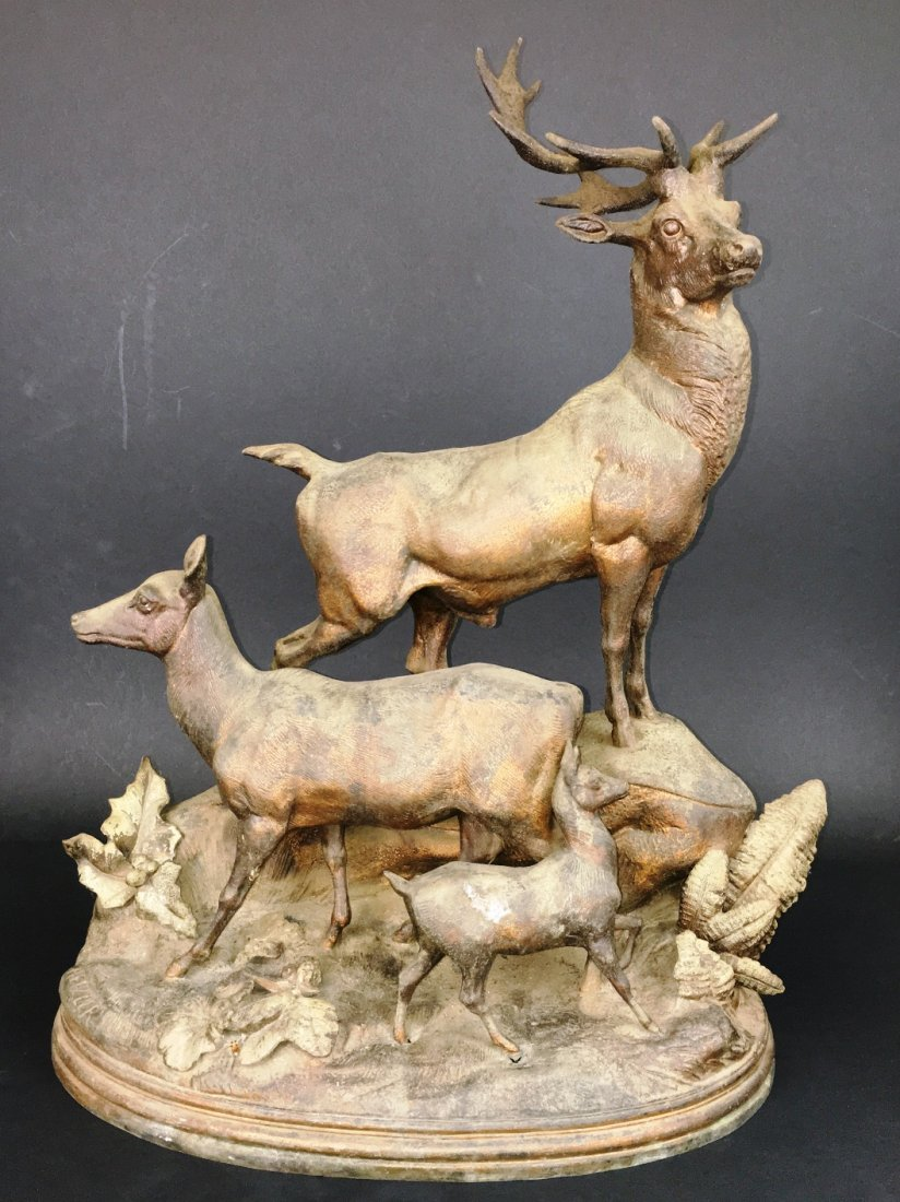 CAST METAL STAG FAMILY BY HEIZLER