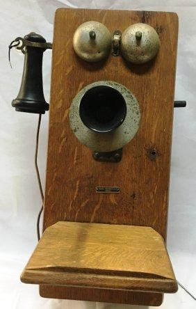 Sears & Roebuck Oak Wall Mount Phone
